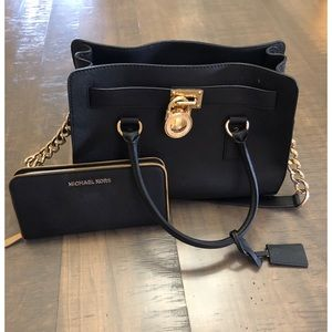 Michael Kors black purse with wallet